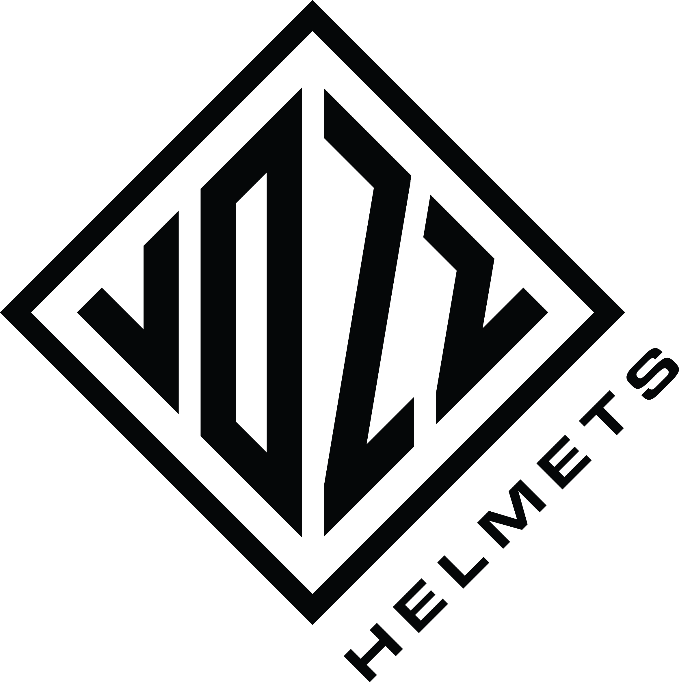 VOZZHELMETS Logo Black